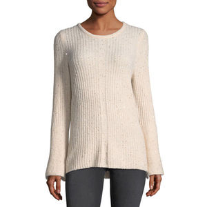Neiman Marcus Pink Sequined-embellished Sweater